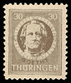 SBZ Thüringen 1945 99A Johann Wolfgang von Goethe.jpg