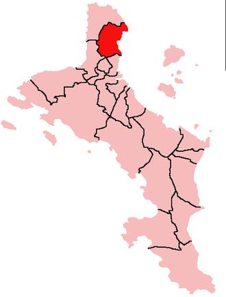 Anse Etoile - Location of Anse Etoile District on Mahé Island, Seychelles