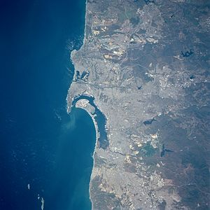 San Diego Bay - San Diego Bay from Space