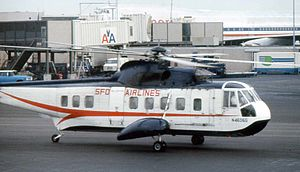 San Francisco and Oakland Helicopter Airlines - A Sikorsky S-61 of the airline.