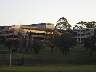 Saint Ignatius' College, Riverview - Wallace Wing, Main Building, Middle School from First Field