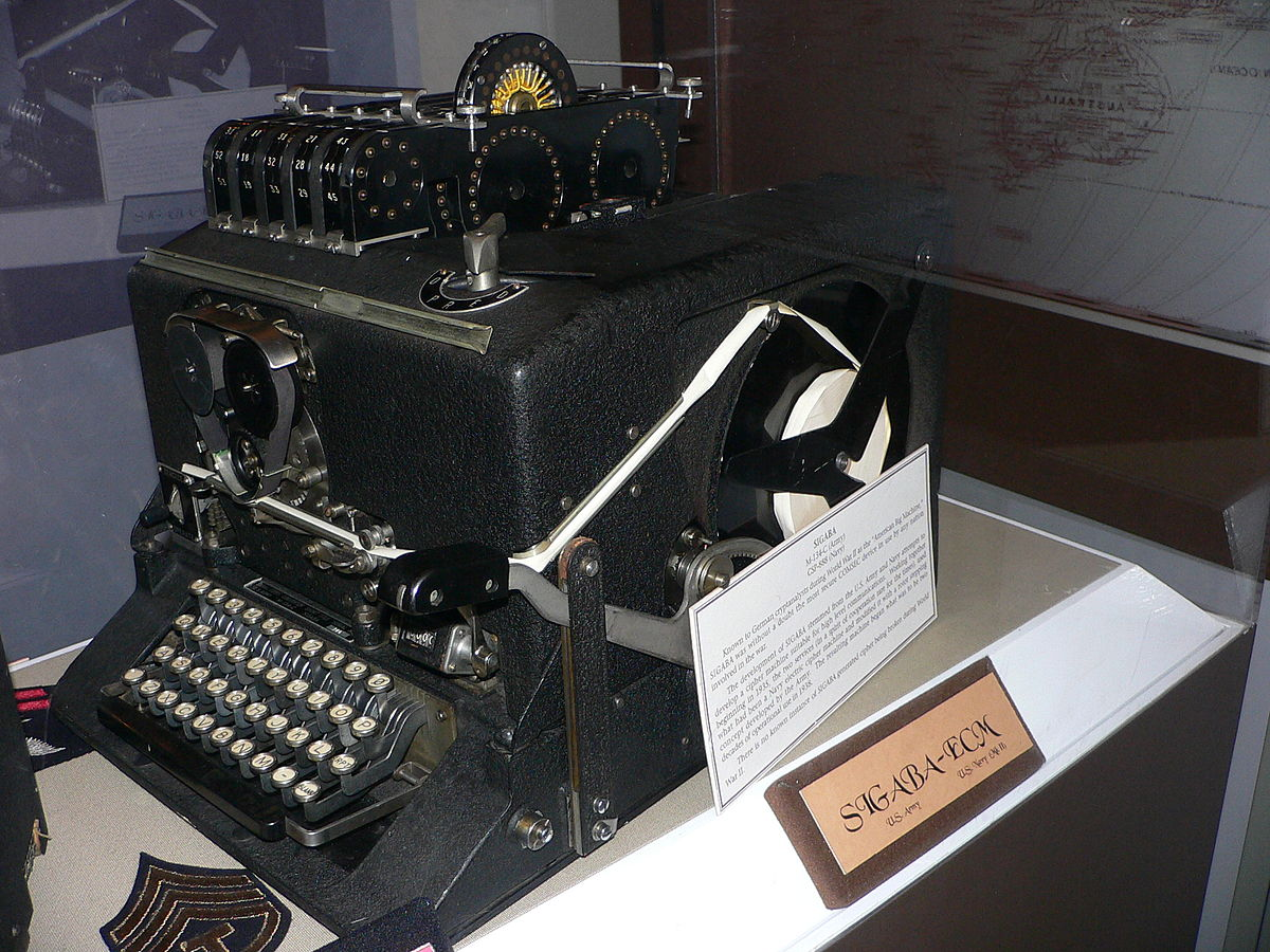 US encryption machine, used from World War II until the 1950s