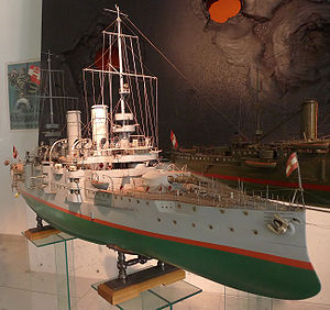 A 1:50 scale model of Árpád.