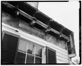 SOUTH ELEVATION, DETAIL OF EAVES, SHOWING CONSTRUCTION - Nevitt's St. Anne, Leonardtown, St. Mary's County, MD HABS MD,19-LENTO.V,2-4.tif
