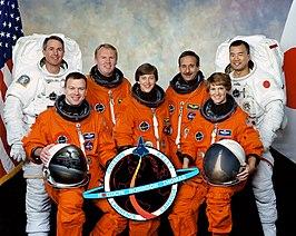 Achterste rij(L-R): Robinson, Thomas, Camarda, Noguchi voorste rij (L-R): Kelly, Lawrence, Collins