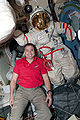 STS-130 Zamka and Orlan spacesuit.jpg