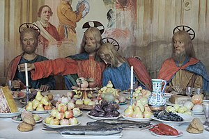 Sacro Monte di Varallo - Unknown Master, Last Supper (detail); wood statues, ca. 1500-1505.