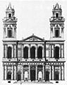 Saint-Sulpice west facade design by Servandoni 1732 - Middleton 1980 p106.jpg