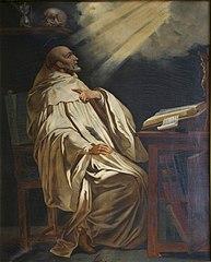 Saint Bernard priant