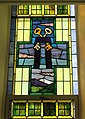 Saint Michael Church (Kelleys Island, Ohio) - stained-glass, Keys of Peter with confession stole.jpg