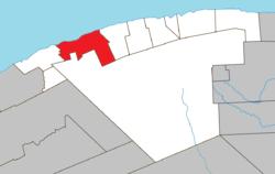Posizione all'interno di La Haute-Gaspésie RCM.