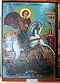 Salamis Saint Barnabas museum icon St George slaying the dragon 04.jpg
