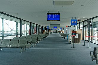Lyon–Saint-Exupéry Airport - Departure gate area