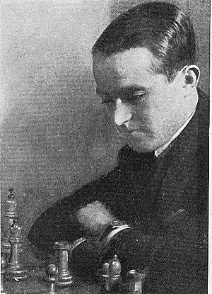 Salo Flohr - Salomon Flohr in Moscow, 1933.