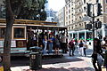 San Francisco - passengers on Powell Street cable car.jpg