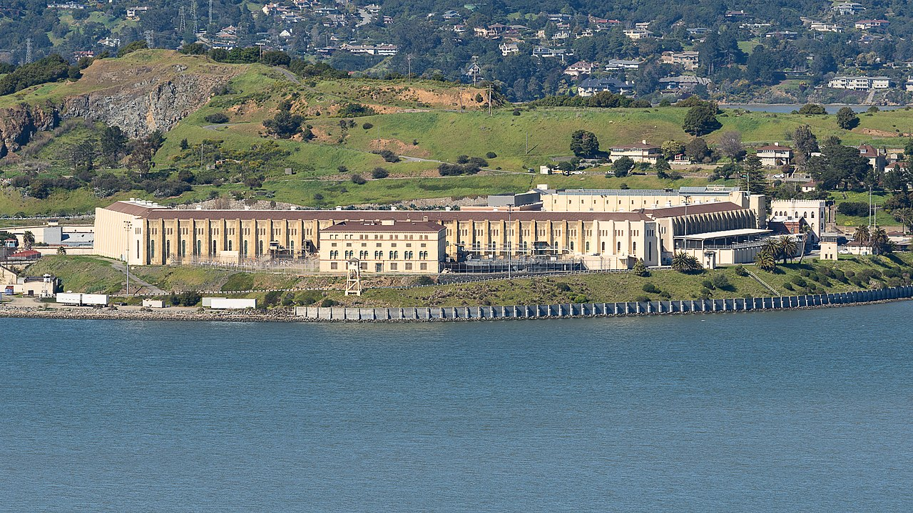 view of san quentin prison from the waterfront