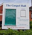 Sandy Lane Gospel Hall, Sandy Lane, Fair Oak (June 2019) (Signboard).JPG