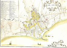 Mappa del cartografo Matteo Vinzoni del 1773