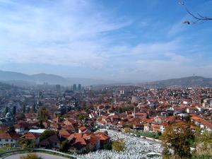 Horde Zla - The Stari grad neighbourhoods looking towards Sarajevo
