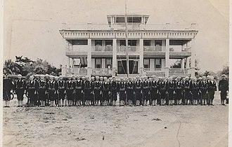 Naval militia - Florida Naval Militia sailors from Sarasota, Florida pose for a photo.