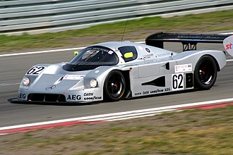 Peter Sauber - Sauber-Mercedes C9 (built in 1988), former car Schlesser/Mass, at the 2009 Oldtimer Grand Prix.