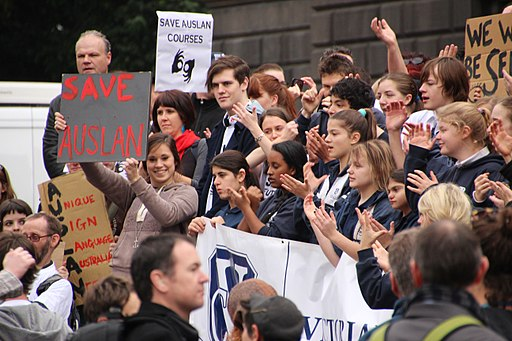 Save Auslan - Save Auslan TAFE Diploma course protest