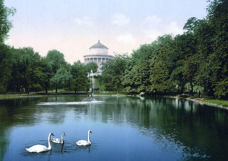 > Jardin de Saxe à Varsovie en 1900.