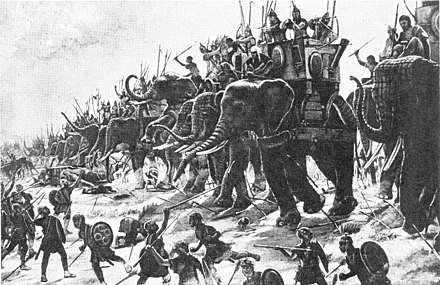 Battle of Zama by Henri-Paul Motte, 1890 Schlacht bei Zama Gemalde H P Motte.jpg