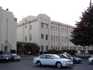 Salesian High School (Richmond, California) - The school gym and classroom building, built in 1940 and 1950 respectively circa 2006