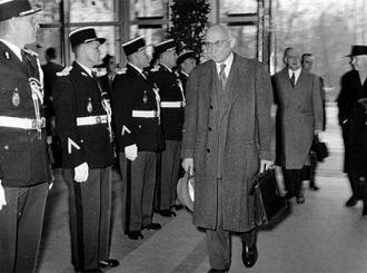 Robert Schuman - On 19 March 1958, the first meeting of the European Parliamentary Assembly was held in Strasbourg under the Presidency of Robert Schuman.