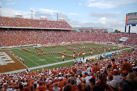 The Cotton Bowl hosts the annual Red River Showdown Script Texas at Red River Shootout 2007.jpg