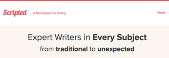 Scripted (company) - Image: Scripted Company Website Expert Writers Page