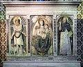 Scuola di donatello, ancona con madonna col bambino tra i ss. girolamo e domenico, xv secolo, 04.jpg