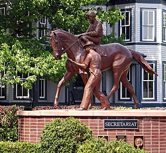 Kentucky Horse Park - Secretariat, winner of the Triple Crown in 1973.
