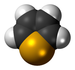 Selenophene - Image: Selenophene 3D spacefill