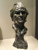 Self Portrait, date unknown, by Honore-Victorin Daumier, bronze - Art Institute of Chicago - DSC09605.JPG