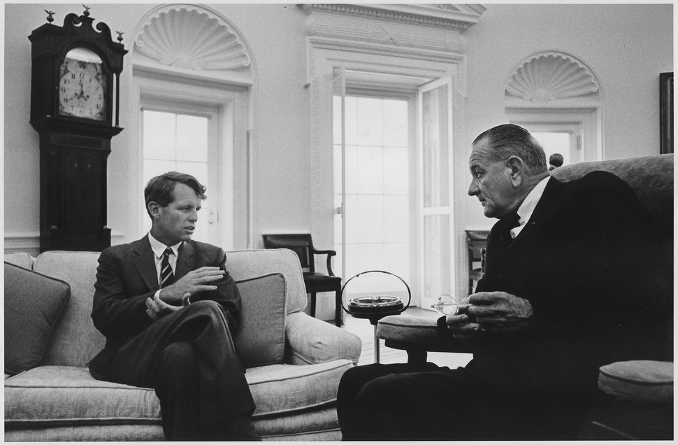 Senator Robert F. Kennedy and President Lyndon B. Johnson - NARA - 192487