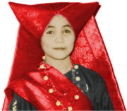 Minangkabau woman dressed in traditional clothes