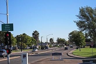 Serra Mesa, San Diego - Serra Mesa entrance at Aero Drive and Sandrock Drive