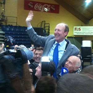 Shane Ross - Ross at his election announcement, 2011