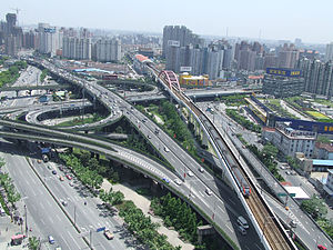 Humin Elevated Road - Image: Shanghai High Way CXNR