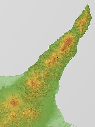 Shiretoko Peninsula - Relief Map