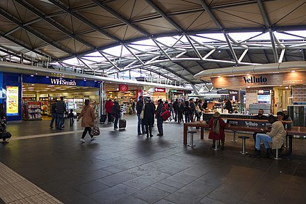 Shops in the concourse Shops in Southern Cross railway station 2017.jpg