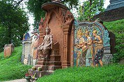 Buddhist shrine just outside Wat Phnom.