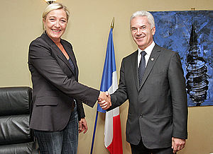 Attack (political party) - Volen Siderov meets Front National President Marine Le Pen in Paris, May 2011