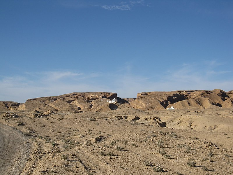 Sidi Bouhlel, Tunisia Desert canyon area. Filming location from Raiders of the Lost Ark