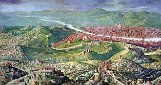 Siege of Florence (1529–30) - The Siege of Florence by Giorgio Vasari 1558