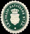 Siegelmarke 1. Königlich Sächsische Train - Bataillon Nr. 12 W0238389.jpg
