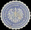 Siegelmarke Bürgermeisteramt Becherbach Kreis Meisenheim W0380483.jpg