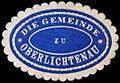 Siegelmarke Die Gemeinde zu Oberlichtenau W0253006.jpg